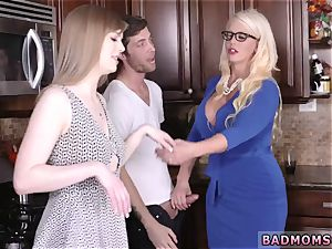 mommy flashes off assets and likes companion playfellow s sons-in-law jizz My playmate s step